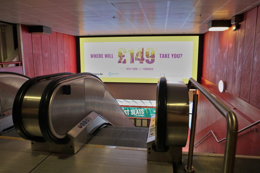 NEC escalator display2