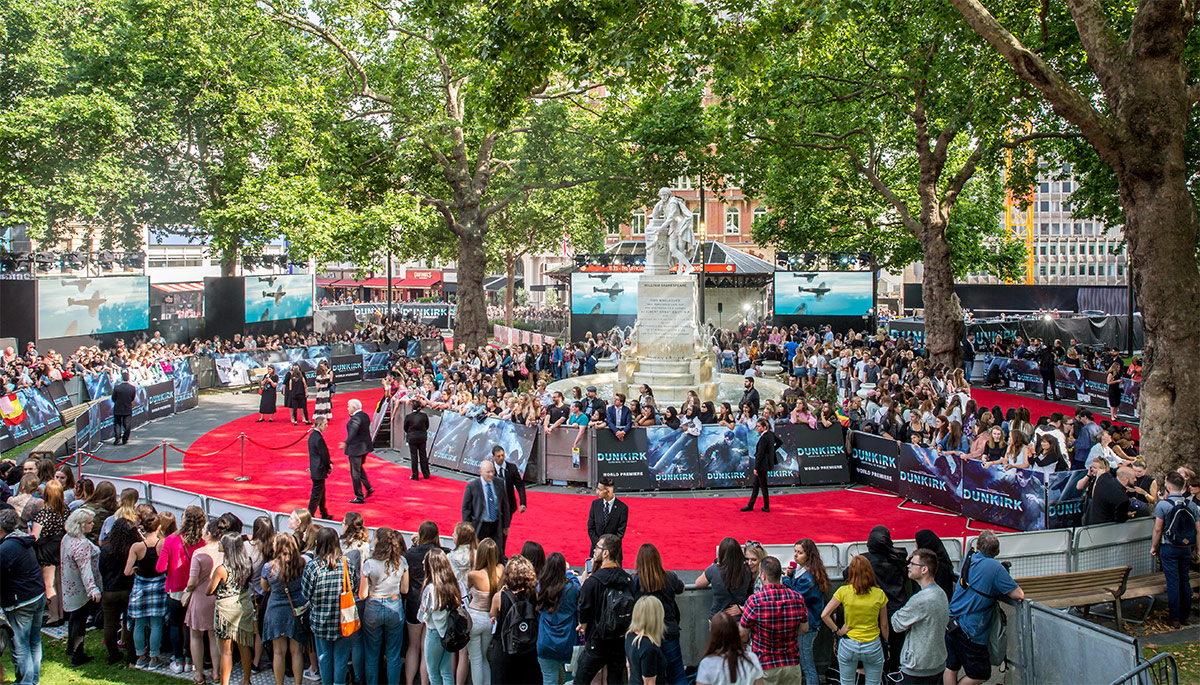 "Anna Valley & Limited Edition Event Design create epic visual display for worldwide premiere of ""Dunkirk"""