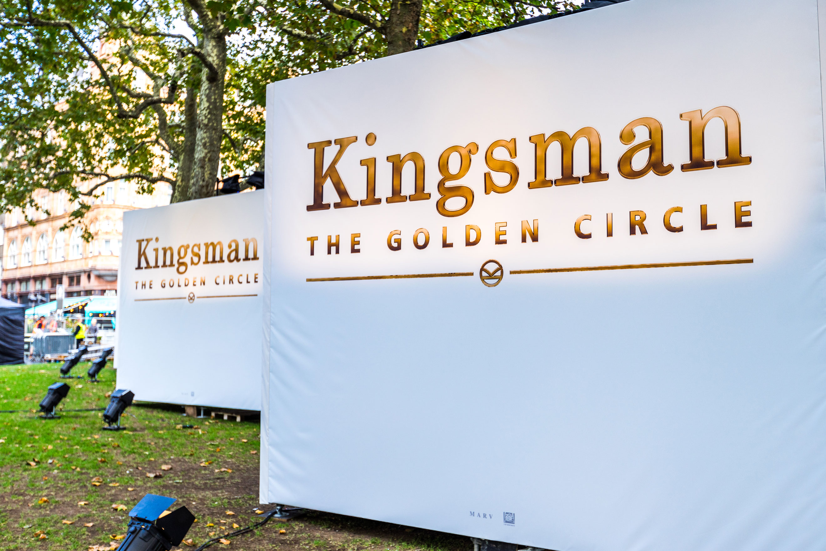 """Anna Valley's outdoor LED displays   line 150m red carpet at """"Kingsman: The Golden Circle"""" worldwide premiere"""