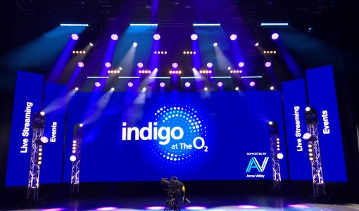 Anna Valley transforms indigo at The O2  into a live streaming venue