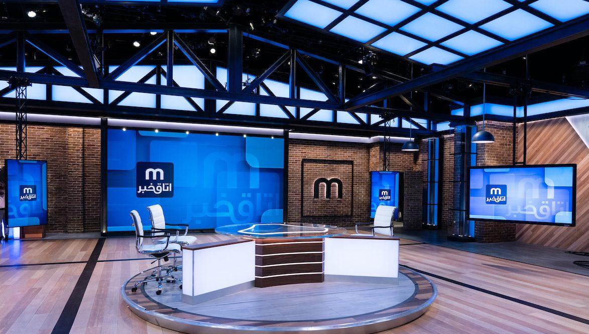 Manoto TV's studio displays