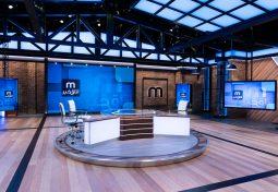 A broadcast studio design that's centred around digital displays