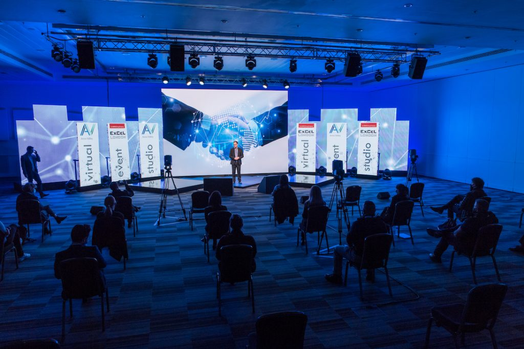 Virtual event studio at Excel London