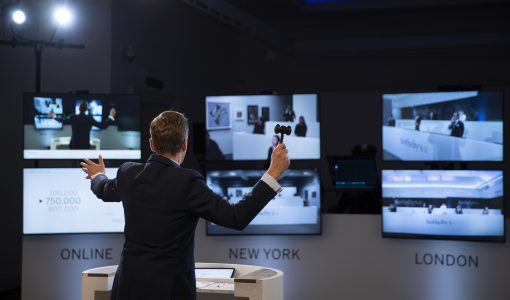 Combining a live event, online auction and TV format to create Sotheby's auction of the future.
