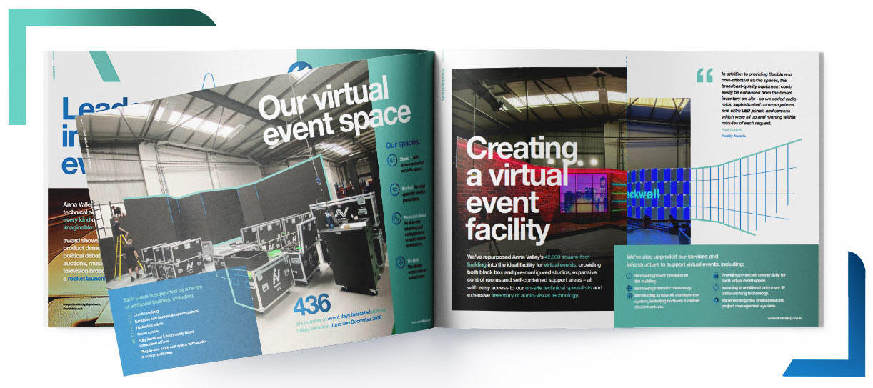 virtual event facility brochure