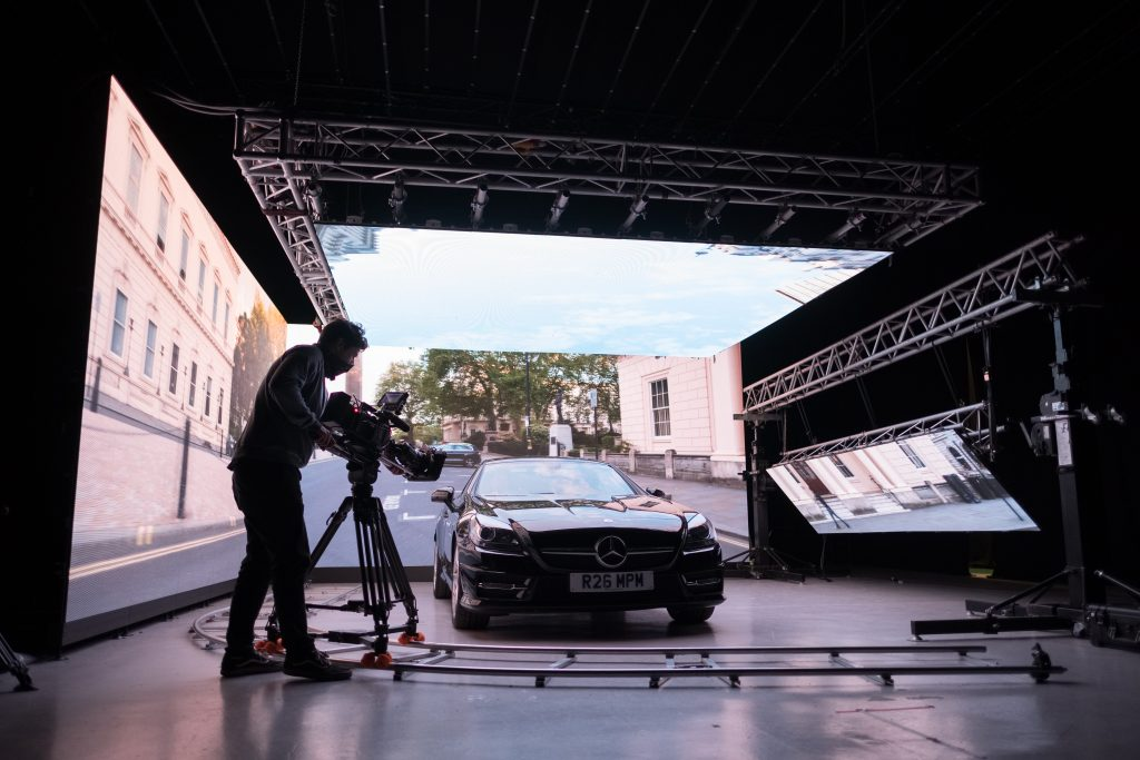 LED virtual studios minimise the need for location filming