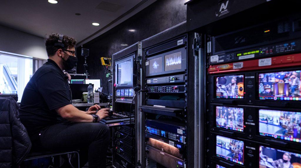 virtual event control room