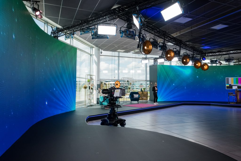 LED backdrop to virtual corporate events
