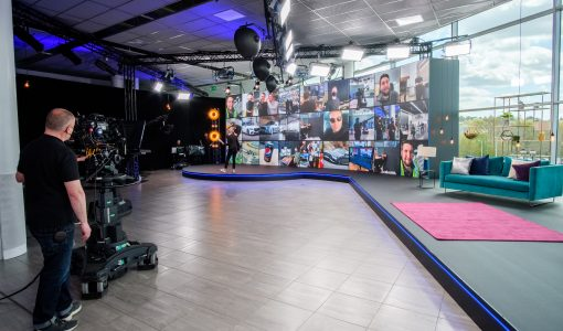 Fusing TV and AV to create a fun-filled virtual corporate event
