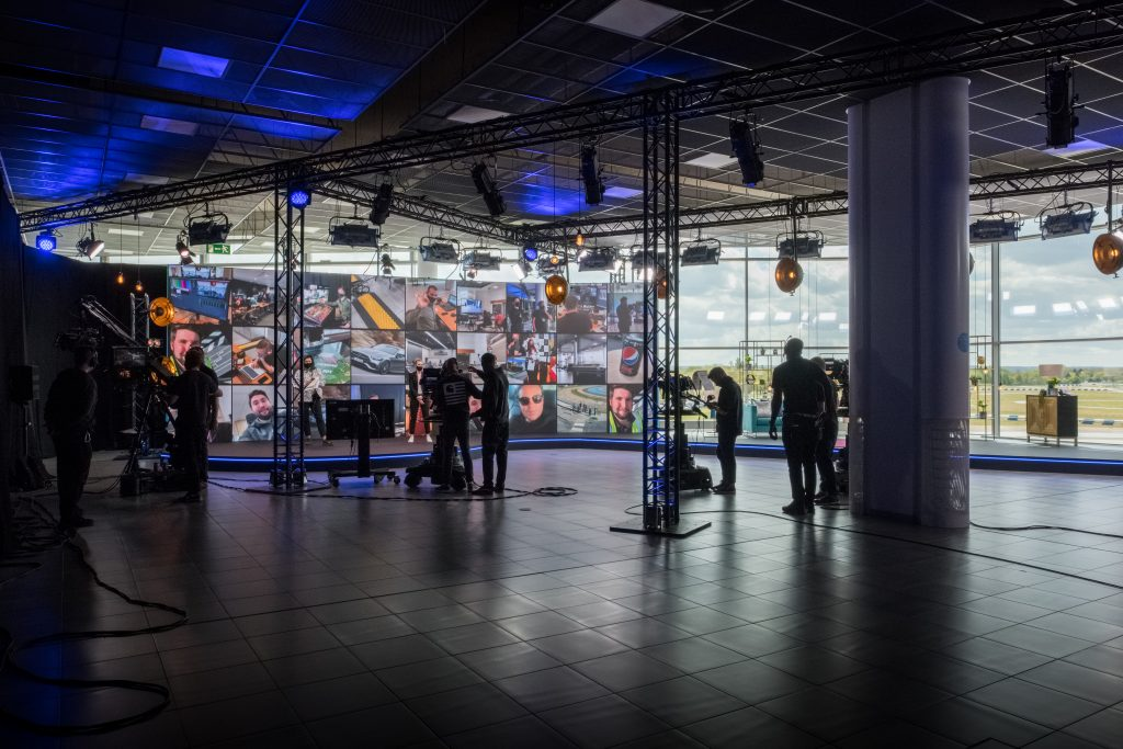Virtual corporate event AV